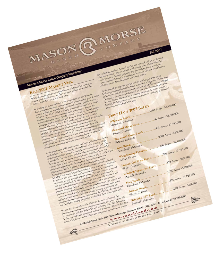 September 9th, 2007  Ranch Farm Spring Real Estate Newsletter