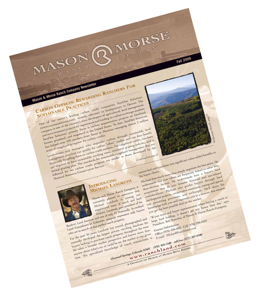 September 8th, 2009 Ranch Farm Spring Real Estate Newsletter
