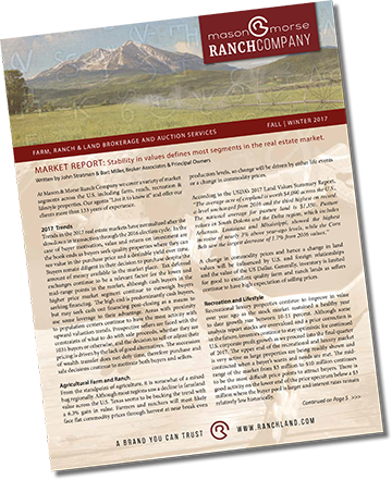 October 1, 2017 Ranch Farm Fall Real Estate Newsletter