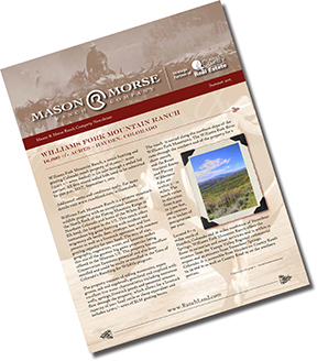 Mason & Morse Ranch Company Ranch Farm Land Newsletter 2015